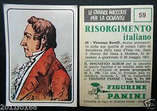 figurines cromos picture cards figurine risorgimento italiano 59 borelli panini
