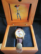 Disney Pixar Toy Story Woody Fossil Watch in Wood Box  #0212 of 1000 Certificate