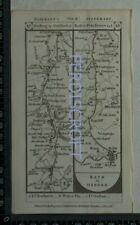 1785 Paterson Strip Map - Maidstone, Sevenoaks, Reigate, Guildford, Bath,Sodbury