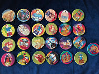 (073) Lot 25 Pog Pogs Cap Capcom Super Street Fighter II 2 World Flip Federation