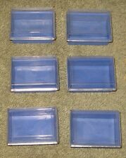 6 Small Plastic Storage Containers For Beads Crafts Buttons Needles Etc.