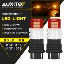 AUXITO 2X 3157 3156 Turn Signal Light  Amber Yellow LED Bulbs Lamp12E For Ford
