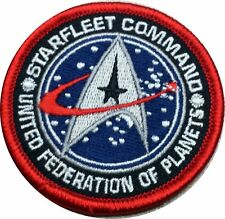 Velc. Star Trek Starfleet Command United Federation Patch 2.5 Inches