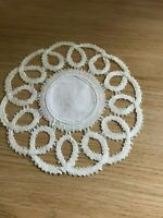 Vintage cotton lace crochet doily / mat