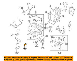 Infiniti NISSAN OEM 09-13 FX50 Driver Seat-Track End Cover Left 875571CA0A