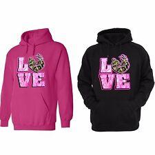 Women's Plus Size Pink Camo Hoodie Country Muddy Southern Girl Hunts Deer 2X-5X