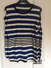 Dorothy Perkins Size 22 Blue Cold Shoulder Jumper Thin Knit