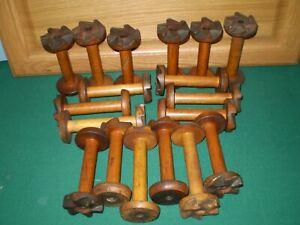 Vintage Industrial Wooden Spools Lots Of 18
