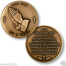 NEW Serenity Prayer One Day At A Time Challenge Coin. 48353.