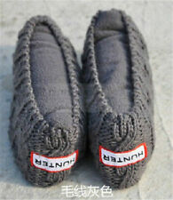 Gray knit Cuff Hunter Welly Long Socks For Tall Rain Boots Liners Socks size L