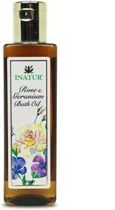 Inatur Rose Geranium Bath Oil, 200 ml (free shipping world)