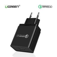 Cargador Quick Charge 3.0 carga rapida tecnología inteligente 3A UGREEN negro