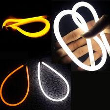 2x 60cm Switchback Headlight LED Strip DRL Daytime Light Tube White-Amber NEW