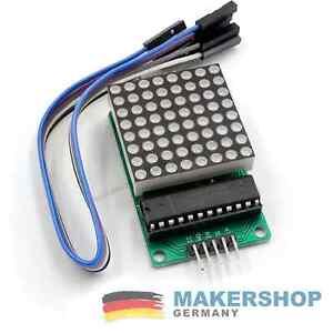FERTIG AUFGEBAUT - Led Dot Matrix Display Modul 8x8 Arduino MAX7219 Raspberry