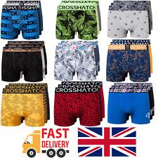 Crosshatch - 3 Pack Mens Designer Boxer Shorts Underwear Set Multi-pack Gift Set
