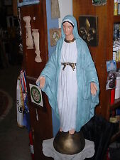 34 in. Immaculate Heart of Mary Statue Concrete Statues Custom Painted