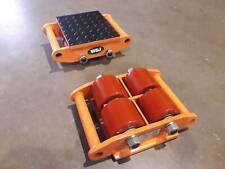 W&J Pair of 6 Ton Fixed Type Machine Skates / Moving Skates (12ton in total)