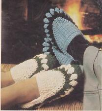 CROCHET SLIPPERS ADULT - jet or 12ply - COPY crochet  pattern