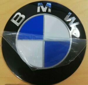 BONNET & TRUNK BMW 78MM E38 E31 E53 X5 Z3 SELF ADHESIVE BADGE ALLOY
