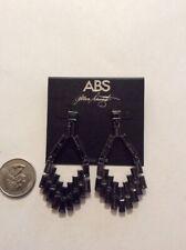 """$75  ABS ALLEN Schwartz black diamond crystal chandelier 2.5""""  earrings  B35"""