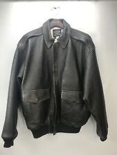 Avirex Mens U.S. Army Air Force Type A-2 Large Leather Bomber Flight Jacket EUC