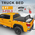 Tonneau Cover 6ft For Chevy Colorado GMC Canyon 3-Fold Trunk Bed