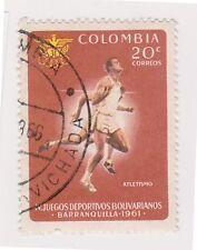 (COA-121) 1961 Colombia 20c Bolivian games running (E)