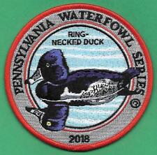 Pa Pennsylvania Game Fish Commission 2018 Waterfowl Series Ring-Neck Duck Patch