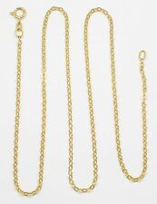 18k Yellow Gold Cable Chain Link Necklace