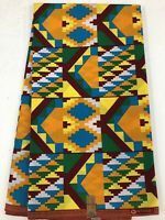 African KENTE Prints /African Print Fabric/African Clothing/MULTI-COLOR