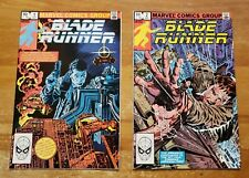 Blade Runner #1 and #2 Marvel Comics Movie Adaptation 1982 Harrison Ford