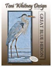 Great Blue Heron Pattern by Toni Whitney Design DIY Quilting Bird Beach