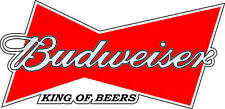 """Budweiser King Of Beers Alcohol Bumper sticker, wall decor, vinyl decal, 5""""x2.5"""""""