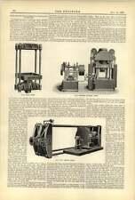 1893 Developments Hydraulic Machinery Olive Press Pipe Testing