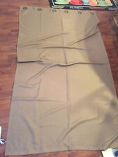 """Unknown Brand Set Of 2 Brown Grommet Top Curtain Panels Unlined 84"""""""