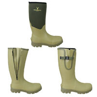 HUNTSBURY WELLINGTON BOOTS HUNTING SHOOTING FISHING OUTDOORS HUNTERS WELLIES ASH
