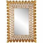 Antique Spanish Colonial Wall Mirror with Mosaic