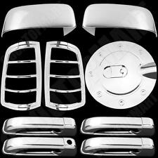 For Dodge Ram 1500 STD 09-15 Chrome Covers Half Mirror+Door Handle+Taillight+Gas