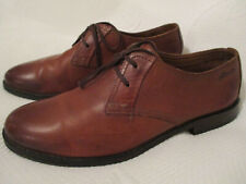 Mens CLARKS shaded tan two eylet laced dress shoes U.K. 6 (EUR 39.5) G fitting.