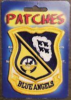 USN NAVY Patch: NAVY BLUE ANGELS FLIGHT DEMONSTRATION SQUADRON: F/A-18 HORNET
