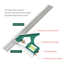 Multi-function 300mm Combination Square Angle Ruler 45/90 Degree W/ Bubble Level