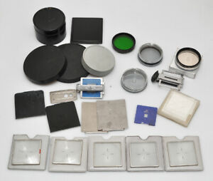 "Hasselblad lot of untested accessories for ""old"" lenses and cameras, as is"