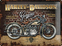 Harley Davidson Genuino (Pared Ladrillo) Grande Relieve Acero Signo