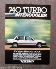 [GCG]  N227 - Advertising Pubblicità - 1984 - VOLVO 740 TURBO INTERCOOLER