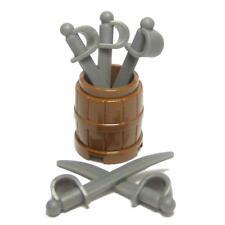 ☆NEW☆ Lego Pirate Castle Minifig Weapon Barrel & Swords