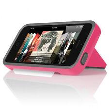 New Apple iPhone 5 INCIPIO Stowaway Pink/Grey Case Kickstand w Screen Protector