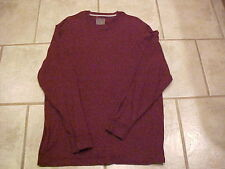 Mens Mans OLD NAVY Long Sleeved Shirt Crew Neck Cranberry Soft Cotton Fabric