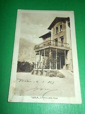 """Cartolina """"Leila"""" Il Villino delle Rose - ( Vicenza ) 1913"""