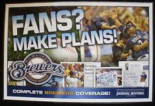 2011 Milwaukee Brewers Playoff / Milwaukee Journal Newspaper Box Advertsing Sign