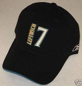 NFL Jacksonville Jaguars Black Byron Leftwich OSFA Adjustable Hat By Reebok
